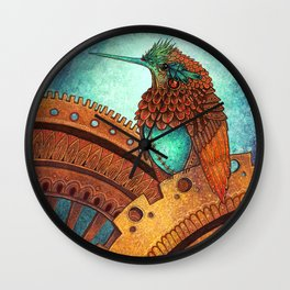 Clockwork Hummingbird Wall Clock