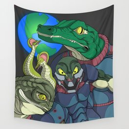 3 Reptilian Earth Wall Tapestry