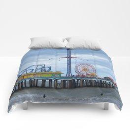 Pleasure Pier - Galveston Texas Comforters