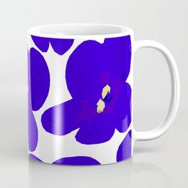 Blue Retro Flowers #decor #society6 #buyart Coffee Mug