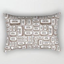 Love is a Mixtape Rectangular Pillow