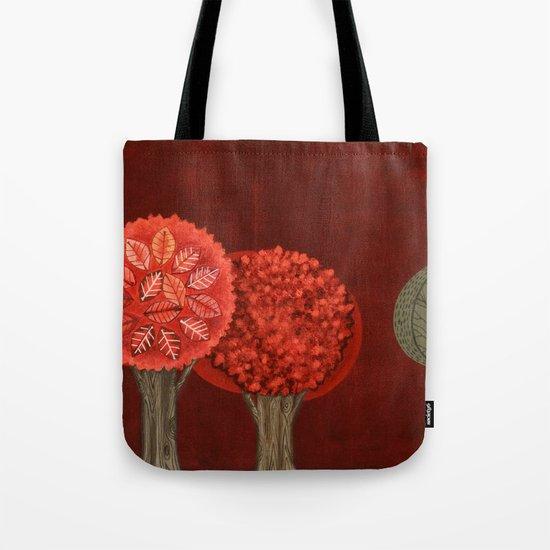 Red Grove Tote Bag