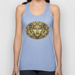 """Ancient Golden and Silver Medusa Myth"" Unisex Tank Top"