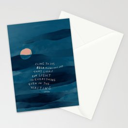 Cling To Joy, Bold, Audacious Joy That Looks For Light In Everything Even In The Waiting. Stationery Cards