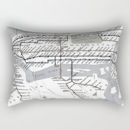 Vintage Subway Rectangular Pillow