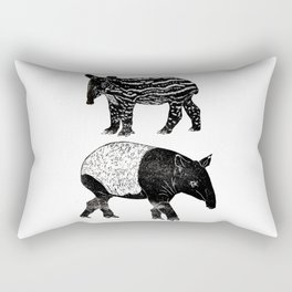 Malayan Tapir & Baby Rectangular Pillow