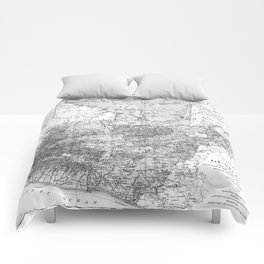 Vintage Map of Guatemala (1902) BW Comforters