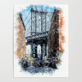 Usa New York Manhattan Poster