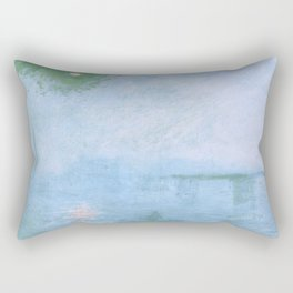"Claude Monet ""Charing Cross Bridge. Fog on the Thames"" (1903) Rectangular Pillow"