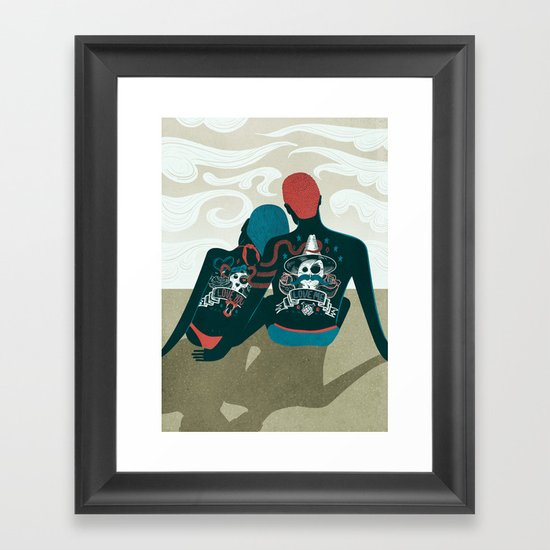 Love You / Love Me - Us and Them Framed Art Print