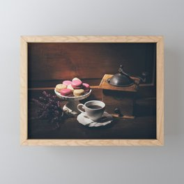 Vintage still life with coffee items Framed Mini Art Print