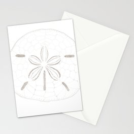 Sand Dollar Dreams - Brown on White Stationery Cards