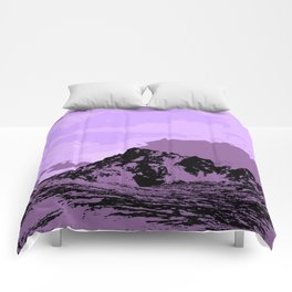 Chugach Mountains - EggPlant Pop Art Comforters