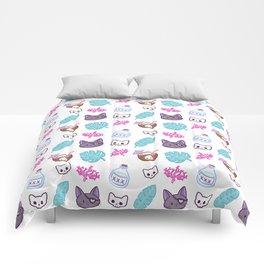 Pirate Cat // White Comforters