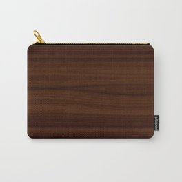 Dark Wood Texture Carry-All Pouch