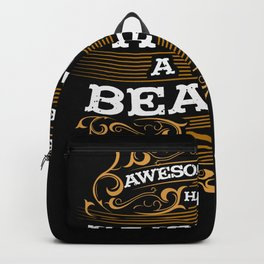 Awesome Dads have Tattoos and Beards for Father´s Day Backpack