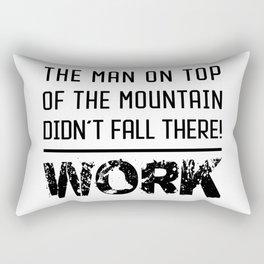 Work - Hustle Motivation for Entrepreneurs Fitness Trainer And Bodybuilder Rectangular Pillow
