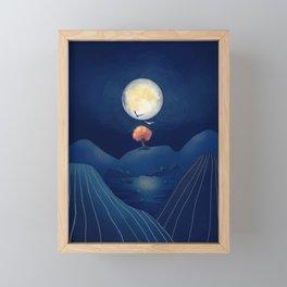 Full moon night Framed Mini Art Print