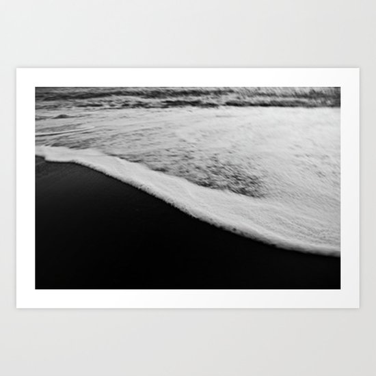 Black & White Tide Art Print