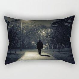 winter walk; morning commute Rectangular Pillow
