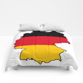 Germany Map with German Flag Comforters