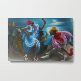 African American Masterpiece 'Rumba' Landscape Painting Metal Print