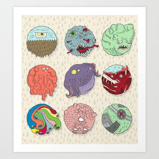Monster Balls Art Print