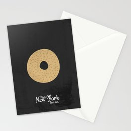 This is New York for me. Bagel Stationery Cards