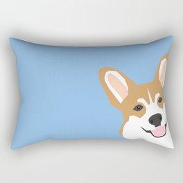 Corgi Peek  cute dog welsh corgi gift unique pet customizable gifts for dog lovers Rectangular Pillow