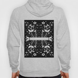 Abstract floral background with banner Hoody