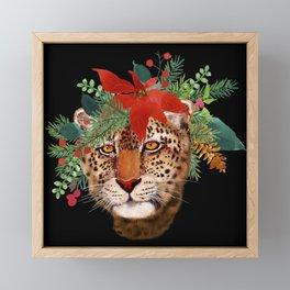 Leopard in December Framed Mini Art Print