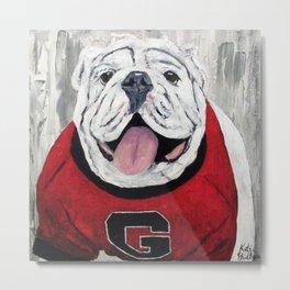 UGA Bulldog Metal Print