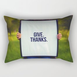 Give Thanks Sign (Color) Rectangular Pillow