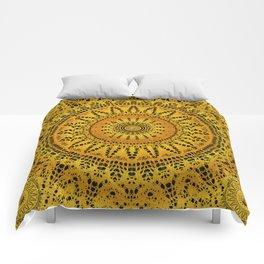 Golden Lace Mandala Pattern Comforters