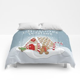 Gingerbread house Comforters