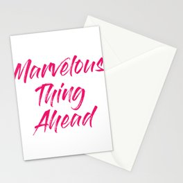 Your Friendly Psychic Tshirt Design marvelous thing ahead Stationery Cards