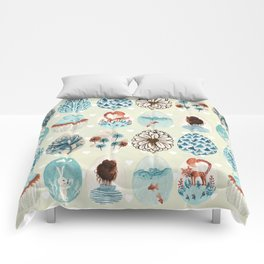 Easter eggs blue colletion Comforters