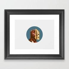 Iron Man (classic) profile Framed Art Print