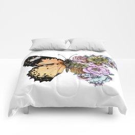 Butterfly in Bloom II Comforters