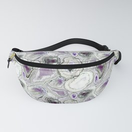 Geode Magic in Amethyst Purple Fanny Pack