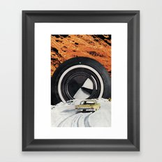 Burning Rubber Framed Art Print