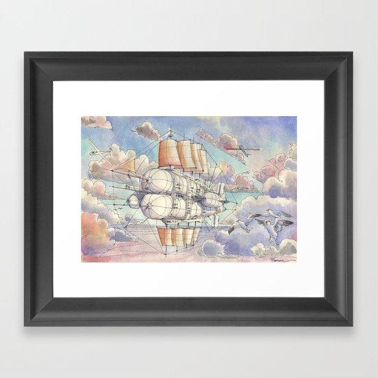 Il Veliero Volante Framed Art Print