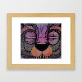 GRIZZLY SLASHER Framed Art Print