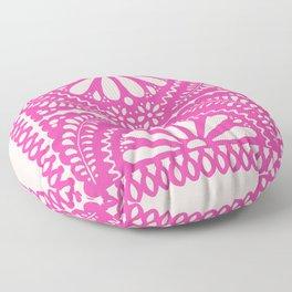 Fiesta de Flores Pink Floor Pillow