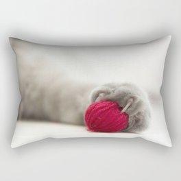 Cat play Rectangular Pillow