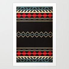 Aztec Dark Art Print