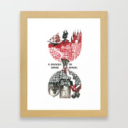 Red & Black London from A Darker Shade Of Magic Framed Art Print