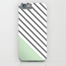 Diagonal Block - Mint iPhone 6s Slim Case