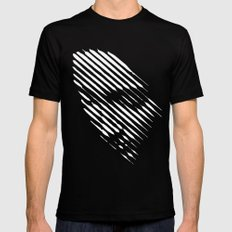Face Lines Black MEDIUM Mens Fitted Tee