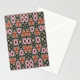 Pink stained glass Stationery Cards